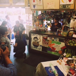 March 31, 2015 - Store operator Michelle welcomes community members to Salva Market.
